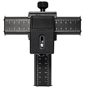 Plateau rail coulissant 4 voies Macrophotographie et Mise au point pour Nikon D4, D3X, D3S, D3, D800, D800E, D700, D300S, D300, D2X, D2H, D200, D1H, D1X, D100, D7000, D5100, D5000, D3200, D3100, D3000, D90, D80, D70, D60, D50, D40 / Canon EOS 1D, 1Ds Series, 7D, 5D, 5D Mark II, 5D Mark III, 1100D, 1000D, 60D, 50D, 40D, 30D, 20D, 10D, 600D, 550D, 500D, 450D, 400D, 350D, 300D / Sony a100, a200, a230, a290, a300, a330, a350, a380, a390, a450, a500, a550, a560, a580, a700, a750, a850, a900, a33, a55, a65, a77 / Minolta a series cameras: a5, a5D, a7, a7D, etc. / Pentax K-5, K-7, K-X, K-R, K10D, K20D, K100D, K200D / Olympus E-1, E-3, E-30, E-620, E-610, E-520, E-510, E-500, E-450, E-420, E-410, E-330, E-300 / Fuji S5Pro, S3Pro, S2Pro, S1Pro Samsung GX-20, GX-10 series,/ Panasonic GF1, GH1, L1, L10 series LF92