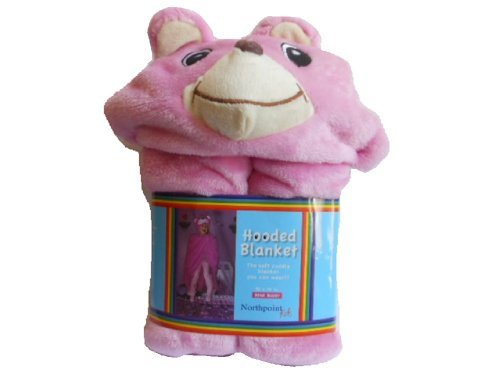 Northpoint Bear Buddy Hooded Blanket (Pink) - 1