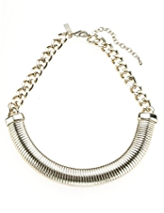 Autograph Ribbed Chain Collar Necklace