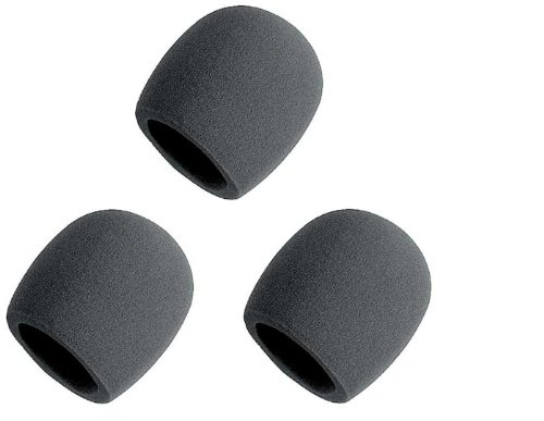 On Stage Asws58-B Black Foam Microphone Windscreen - 6185 Bundle Of 3