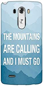 Snoogg Wanderlust Mountains Are Calling 2868 Designer Protective Back Case Cover For LG G3