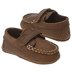 Baby's Store | Polo Ralph Lauren Layette Infant Captain EZ Crib Shoe from ibabystore.net