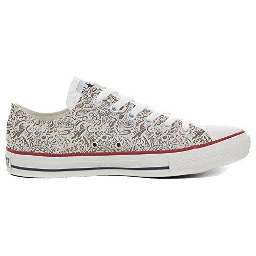 Converse All Star Hi chaussures coutume (produit artisanal) Damask Paisley