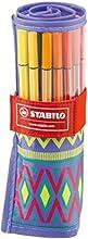 Comprar STABILO Pen 68 - Rotulador premium - Estuche de tela rollerset edición limitada Festival Spirit con 25 colores