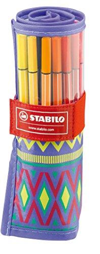 STABILO Pen 68 - Rollerset FESTIVAL SPIRIT de 25 feutres pointe moyenne (Édition Limitée) - Coloris assortis