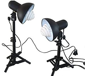 ALEKO® ADN-7 Table Top Photo Studio Lights Kit Photography Lights for Tent - Dome - Cube - Box