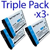 Premium Quality -Triple Pack- 3x Rechargeable Battery NP45 NP-45 for Fuji Finepix Fujifilm J10, J15fd, J15 fd, J12, J20, J100, J110W, J110 W, J120, J150W, J150 W, J250, Z10fd, Z10 fd, Z20fd, Z20 fd, Z30 fd, Z30fd, Z33 fd, Z33fd, Z100Fd, Z100 fd Z200fd, Z