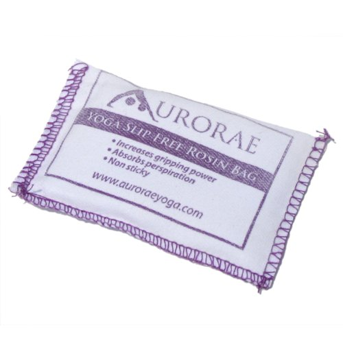 Aurorae Yoga Slip Free Rosin Bag. Stop Slipping on your Yoga Mat, Odor Free and Non Sticky. Made in USA.