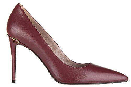 Gucci decolletes decoltè scarpe donna con tacco pelle malaga bordeaux EU 39 388433 C9D00 6257