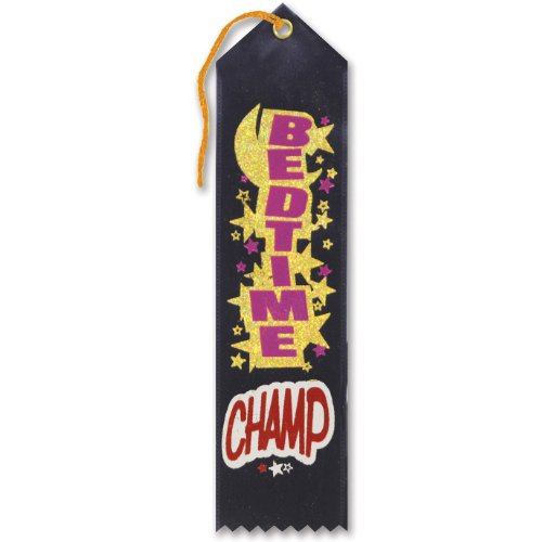 "Bedtime Champ Award Ribbon 2"" x 8"" Party Accessory"