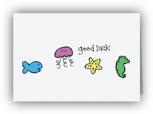 Sea Creatures Good Luck Cards
