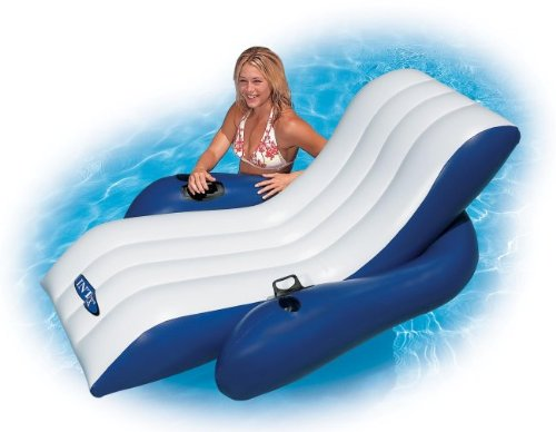 Intex Floating Recliner Lounges With Cup Holders | 58868E (2 Pack/Pair) front-1040969