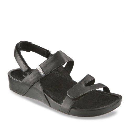 AetrexAetrex Women's Paraiso Sandalistas - Lynco Footbed Sandal,Black,8.5 M US