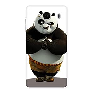 Special Punching Panda White Black Back Case Cover for Redmi 2 Prime
