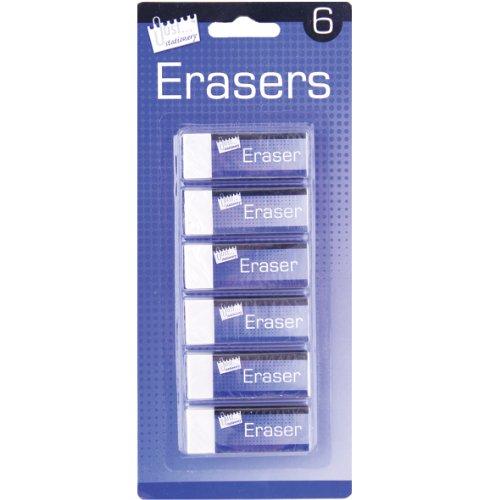 just-stationery-eraser-white-pack-of-6