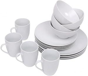 edles geschirr set 16 tlg porzellan speiseservice tafelservice geschirrset teller. Black Bedroom Furniture Sets. Home Design Ideas