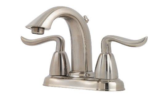 7 Faucet Finishes For Fabulous Bathrooms: Pfister F048ST0K Santiago 4-Inch Centerset Lavatory Faucet