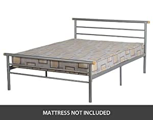 ValuFurniture Orion 4 0 inch Small Double Bed in Silver from ValuFurniture