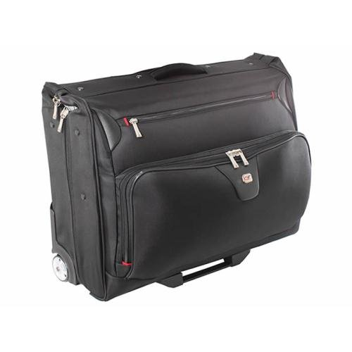 Gino Ferrari, Manhattan Wheeled Garment Bag, Black