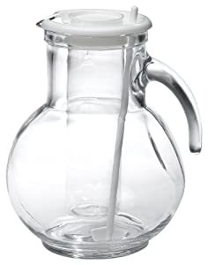 Bormioli Rocco Kufra Glass Jug with Ice Container and Lid, 72 3/4 oz