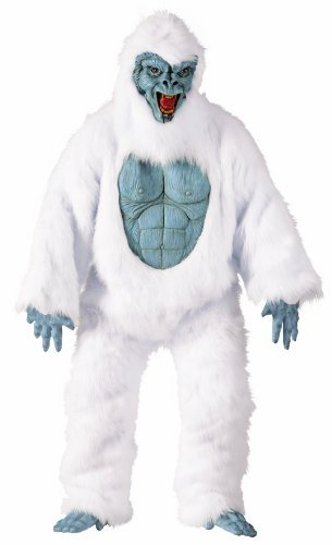 Fun World Abominable Snowman Adult Costume White Unisex