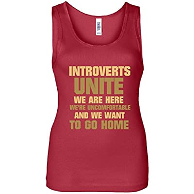 Introverts Unite We Want To Go Home Women's Tank Top