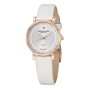 Stuhrling Original Women's Diamond GP13078 Leather Strap Watch