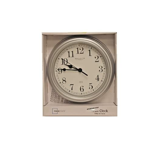 "Amazon.com - Mainstays 8.75"" Wall Clock Silver -"
