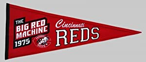 Cincinnati Reds Cooperstown Collection Wool Blend MLB Baseball Pennant by Winning Streak Sports
