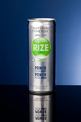 Rize Natural Energy Drink - Apple Pear - Sweetened With Trehalose, 8.4 Ounce Can (Case Of 24) - Look At The Comparison Chart