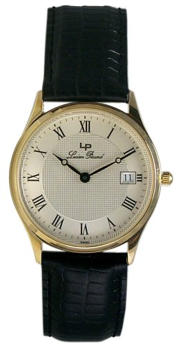 Lucien Piccard 14k Solid Gold Mens Swiss Watch LP0300