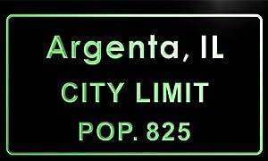 Amazon.com: t80563-g Argenta village, IL City Limit Pop 825 Indoorargenta village