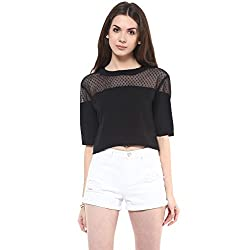 Pannkh Dotted Crop Top