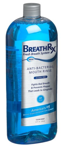 BreathRx Anti-Bacterial Mouth Rinse (33oz Bottle),