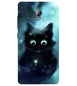 Chiraiyaa Designer Printed Premium Back Cover Case for Lenovo Vibe P1 (cat angry black) (Multicolor)