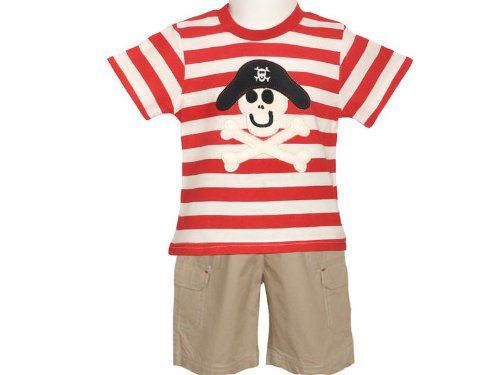 Togs By Teddy Baby Boys Pirate Top & Stone Bermuda Shorts - 12-18