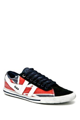 Gola Quota Union Jack Flat Sneaker - Navy White Red