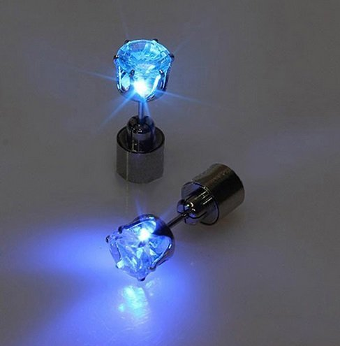 Blue LED Earrings