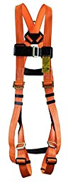 RTC 4431-PC2HV Quick Attach Full Body Harness, Hi-Vis Orange with 3M Reflective Thread
