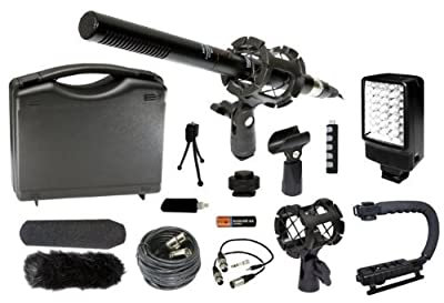 Professional Camcorder Video Camera Microphone Stabilizer LED Video Light Accessories Kit for Canon XF305 XF300 XF105 XF100 XA25 XA20 XA10 GL2 HFG30 HFG20 HFG10 HF G30 G20 G10