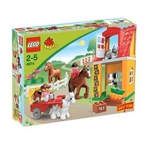 duplo lego ville horse stables 4974 toys. Black Bedroom Furniture Sets. Home Design Ideas
