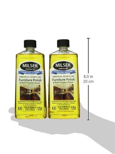 Milsek Original Lemon Oil Furniture Polish and Cleaner, 12 Fluid Ounce