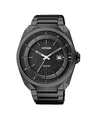 Citizen Eco-Drive Analog Black Dial Men's Watch AW1015-53E