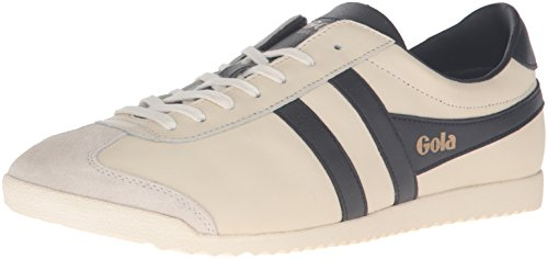Gola Men's Bullet Leather Fashion Sneaker, Off White/Black, UK 10/US 11