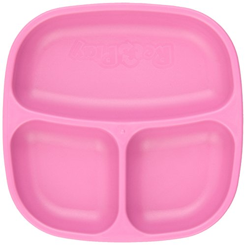 Re-Play Divided Plates, Pink, 2-Count