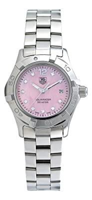 TAG Heuer Women's WAF141A.BA0824 Aquaracer Diamond Pink Mother-of-Pearl Dial Watch