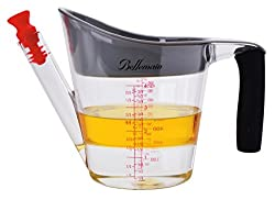 Bellemain Fat Separator / Measuring Cup with Strainer & Fat Stopper 4 Cup / 1 Liter Capacity