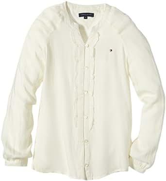 Tommy Hilfiger Girls Crew Neck Long - regular Sweatshirt White - Wei (118 SNOW WHITE - EUR) 14 Years