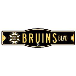 NHL Boston Bruins Sign, 4.5 x 17-Inch