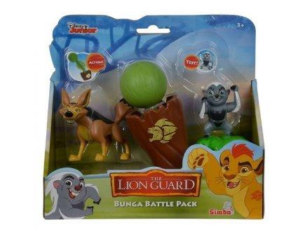 Coffret disney : zorille du cap bunga et le chacal dogo - la garde du roi lion - animaux - figurine